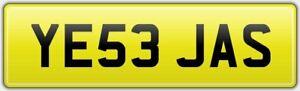 YE53-JAS-PRIVATE-CAR-REG-NUMBER-PLATE-NO-HIDDEN-FEES-JASMINE-JS-JASON-JAY-JAZ