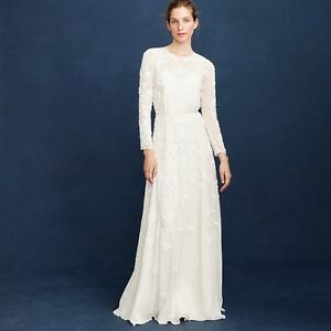 J.CREW $9,9 FLORENCE WEDDING BALL GOWN Size 9 IVORY LONG BRIDAL