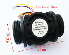 "Water Flow Hall Sensor Switch 1in 1"" Flowmeter Flow Meter Counter 1-60L/min"
