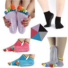 Women Cotton Yoga Gym Toe Colorful Non Slip Massage Socks Full Grip Sock Heel KY
