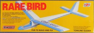 Rare Bird : DPR Towline Free-flight Sailplane Balsa Wood Model Plane Kit Wingspa