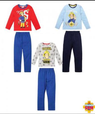 Kinder Pyjama SchlafanzugFeuerwehrmann SamGröße 92