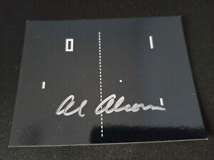 """Allan Alcorn """"Atari - PONG - USA"""" original Autogramm - signed"""