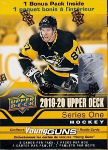 2019-20-Upper-Deck-Series-1-Hockey-sealed-Blaster-Box-7-packs-of-NHL-cards