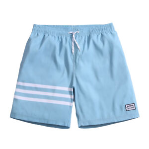 21b628027 Details about Mens Surf Board Shorts Quick Dry Swimming Trunks Beach Shorts  blue white 3 strip