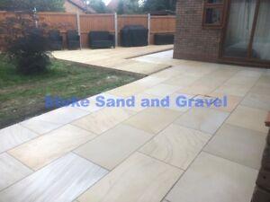 Details about Premium Smooth Sawn Honed Mint Ivory Sandstone 3x2 20m2 Patio  900x600 Garden