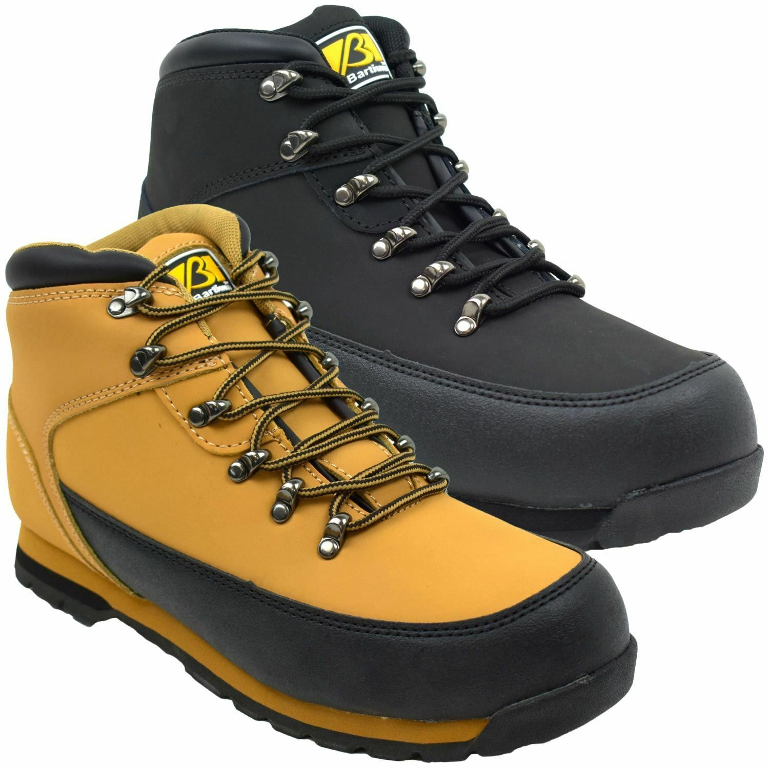 Mens Bartium Safety Lace Up Walking Hiking Round Toe Light Weight Casual shoes