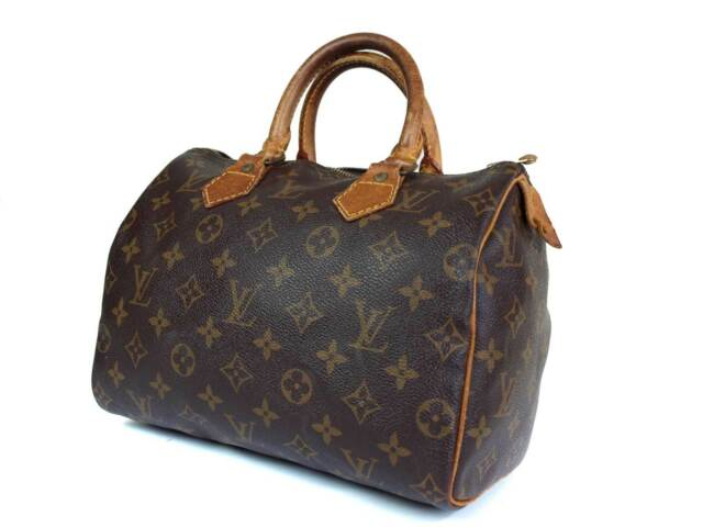 0ae0709f0733 Auth LOUIS VUITTON Monogram Canvas Speedy 25 Handbag for sale online ...