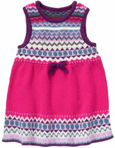 Gymboree Prima Ballerina Fair Isle Sweater Dress Jumper NWT 18 24 2T 3T 4T