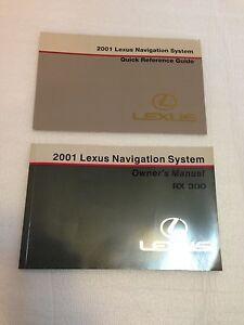 lexus 2001 rx300 owners manual navigation books guide oem quick rh ebay com 2001 Lexus RX 300 Problems 2001 Lexus RX 300 Problems