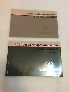 lexus 2001 rx300 owners manual navigation books guide oem quick rh ebay com 2001 lexus rx 300 user manual 2001 lexus rx300 owners manual download