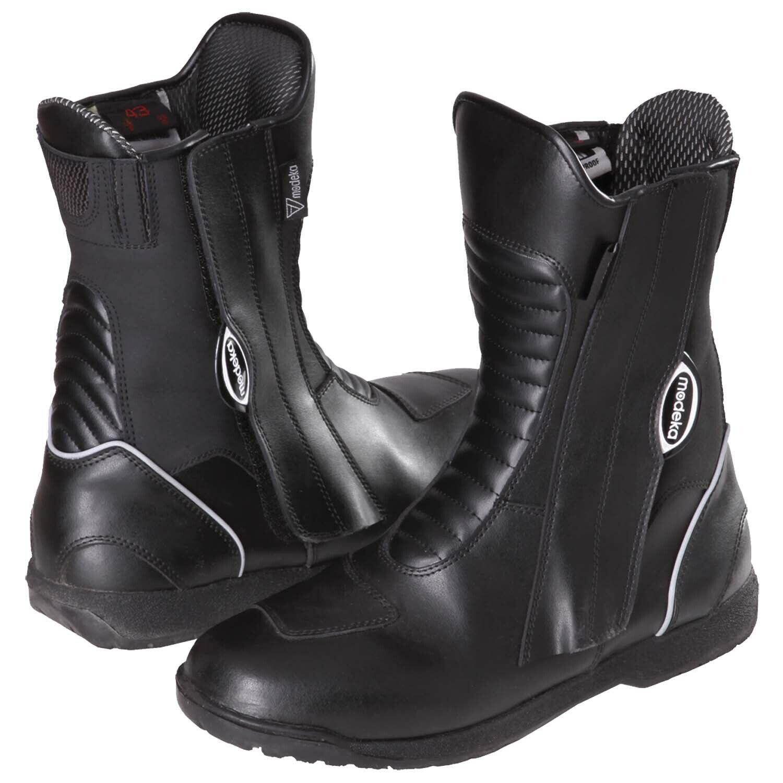 Modeka Spa Evo Men's Touring Motorcycle Boots Leather - Black