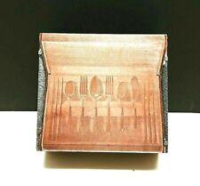 Printing Letterpress Printer Block Copper Plate On Wood Flatware Storage Chest