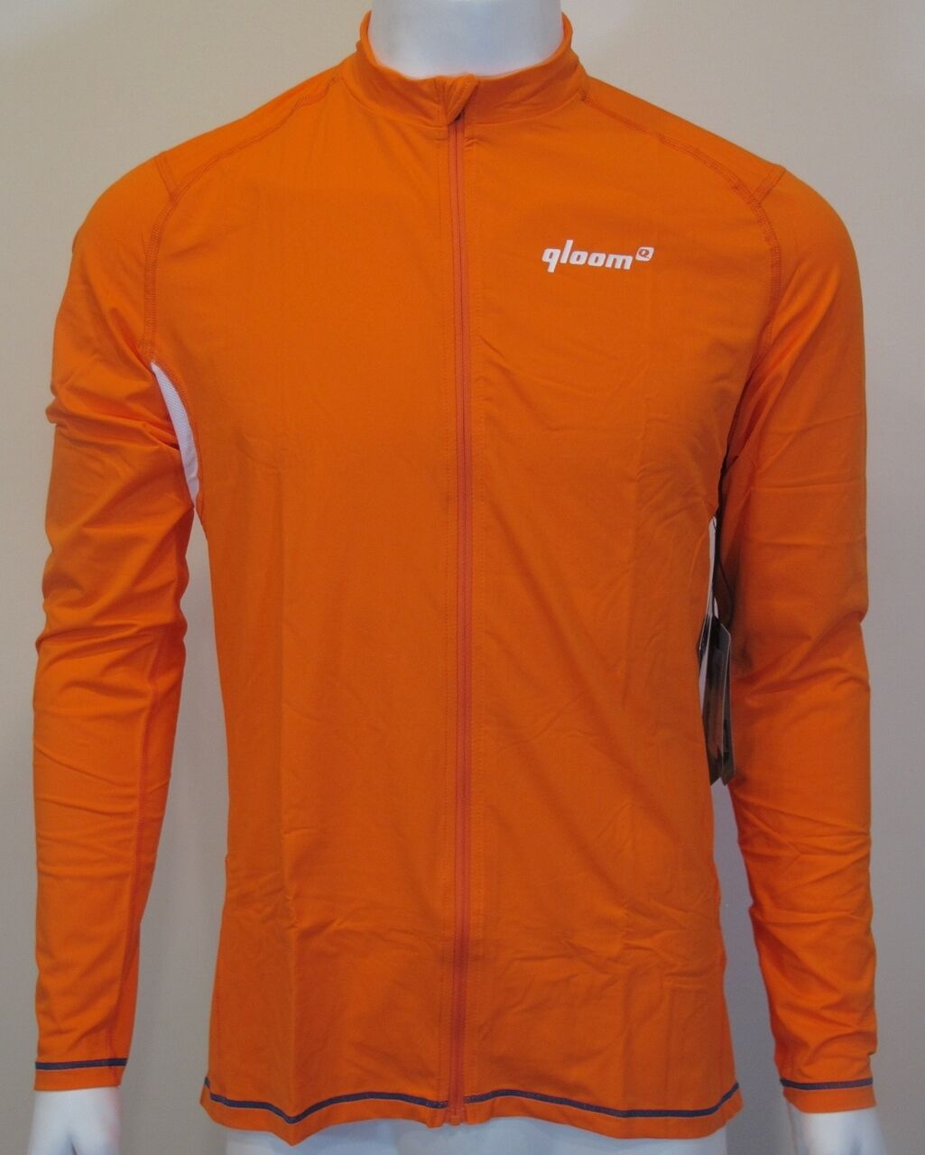 QLOOM BYRON Long Sleeves Training apparel M's orange Cycling Jersey