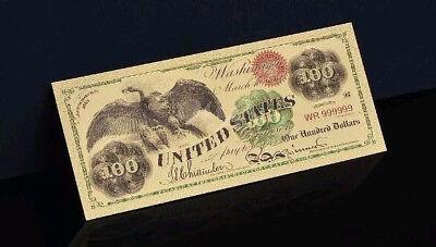 "/<MINT GEM />1899 /""GOLD/"" $100 HUNDRED Banknote W// COA~U.S SELLER~FAST SH"