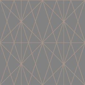 Arthouse WEB GEO 10m Carta da parati disegno geometrico in rame 901702  </span>