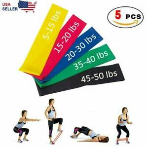 Resistance-Bands-Loop-Set-5-Legs-Exercise-Workout-CrossFit-Fitness-Yoga-Booty