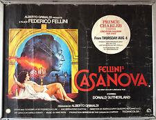 Cinema Poster: FELLINI'S CASANOVA 1976 (Quad) Donald Sutherland Federico Fellini