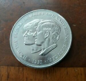 Commemorative Coin Charles & Diana Prince of Wales & Lady Diana Spencer 1981