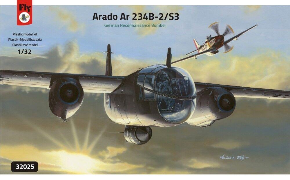 Arado Ar 234 B-2 S3 GERMAN RECONNAISSANCE BOMBER, FLY 32025, SCALE 1 32