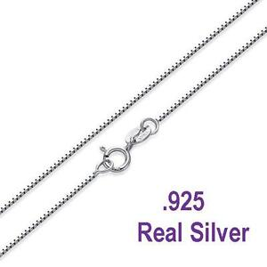 Details about  925 Sterling Silver  8mm Box Chain Necklace for Pendants --  *Wholesale Prices*