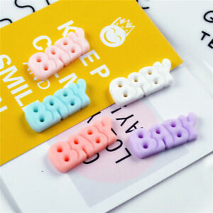 28x11mm-Resin-Cabochons-Mini-034-Baby-034-Word-Shaped-Multipurpose-Craft-Decor-10-pcs