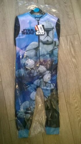 Star Wars blue one piece nightwear pyjamas sleep suit NEW Boys /& Girls Age 2 3 4