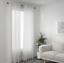 IKEA GJERTRUD Gardinenpaar Weiß 145x300 Vorhang Gardine Gardinenstore