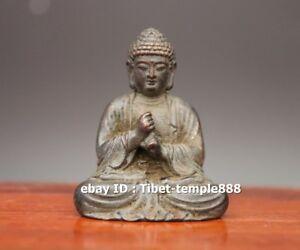 3 CM Tibet Temple Silver Amulet vairocana Tathagata Buddha Figurines Sit Statues