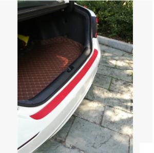 Universal 90cm Car Rear Trunk Tail Lip Protect Anti Scratch Sticke Carbon Fiber