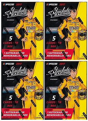 4x 2016 Panini Certified Racing Blaster Boxes unopened 3 packs of 5 NASCAR cards