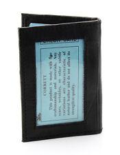 New Mens Bifold Leather ID Wallet Holder Black Credit Card Slim Thin Zip 3x4 522
