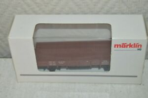 WAGON-MARCHANDISE-PLAT-DB-MARKLIN-4423-TRAIN-CAR-WAGEN-TANK