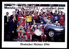 FC Bayern München Mannschaftskarte Deutscher Meister 1994 TOP