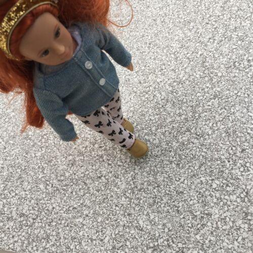 CASA delle Bambole Carta da parati 1:12 Grigio Granito del pavimento e di carta bianco crema pavimento