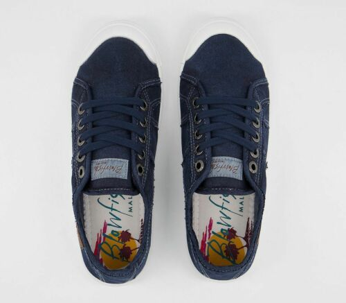 Womens Blowfish Malibu Vesper Sneakers Navy Trainers Shoes