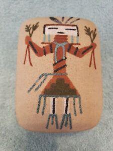 Navajo Sand Art Ceramic Jewlery Box (excellent condition)