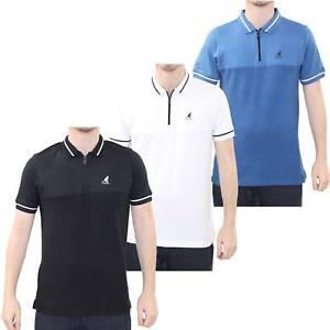 riesiges Inventar Modestile suche nach dem besten Details zu Herren T-Shirt kangol Reißverschluss Polohemd Gestreift Muster  Kurzarm Oberteil