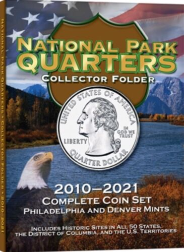 National Parks Quarter Folder Album 2010-2021 Philadelphia Denver Whitman Deluxe