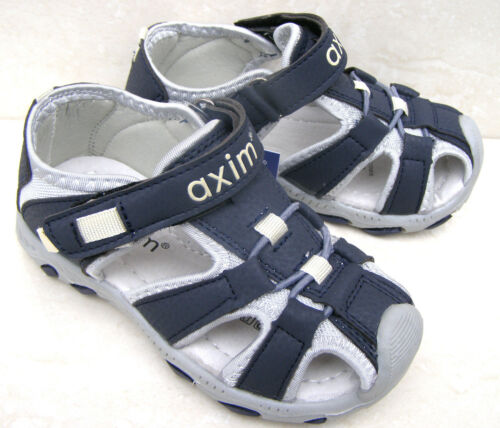 NEW BOYS LEATHER LINED CAP TOES NAVY SPORTS SANDALS HOLIDAY SUMMER SHOES UK