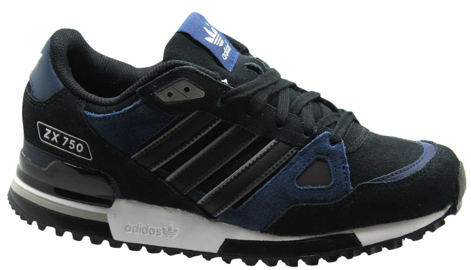 Adidas Originals Negro ZX 750 Hombre Trainers Negro Originals Azul Suede Leather B25958 D74 dfdddc