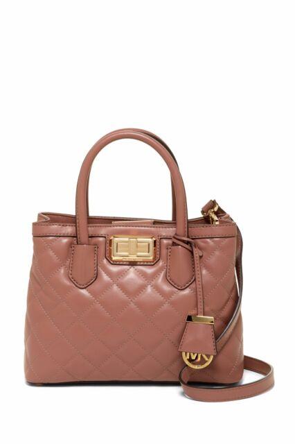 8a0b0de5e76074 ... free shipping nwt michael michael kors hannah small size satchel bag  dusty rose leather e4e8a 8ee28