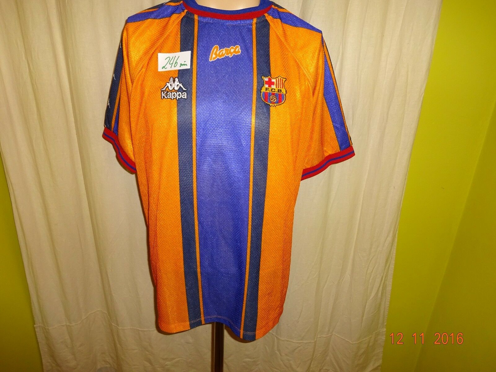 FC Barcelona Original Kappa Kappa Kappa Auswärts Trikot 1997 98  ohne Hauptsponsor  Gr.L 6ee4b1