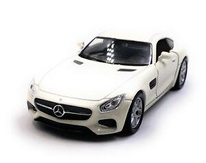 MERCEDES-Benz-AMG-GT-Auto-Sportiva-Auto-modello-auto-BIANCO-SCALA-1-3-4-con-licenza