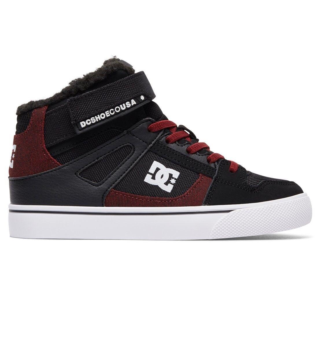 DC Shoes Spartan High LEGGI EV Nero Dark Red Youth   da ginnastica