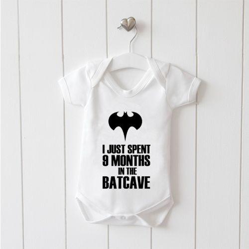 Yo sólo pasó 9 meses en la Baticueva Chaleco bebé crezca 100/% Algodón Niños Niñas Bodys