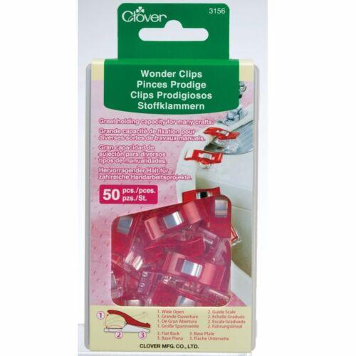 Clover 50 Regular Wonder Clips Red 3156CV