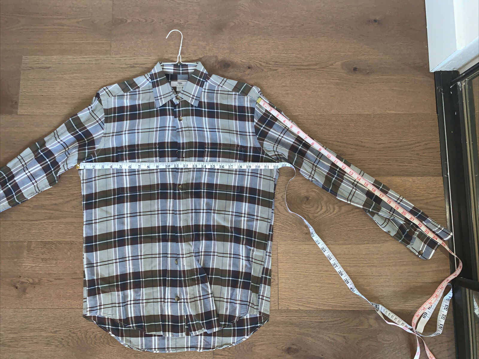 Mens INIS MEAIN Italy Plaid Button Down Dress Shi… - image 2