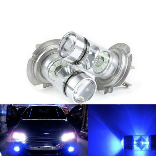2 Pieces Replacement H7 100W 10000K Blue Foglight Daytime Driving Lamp Bulbs
