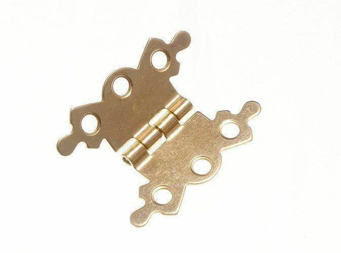 NEW BUTTERFLY ORNATE FANCY HINGE EB BRASS PLATED 40MM (PAIRS OF 100)